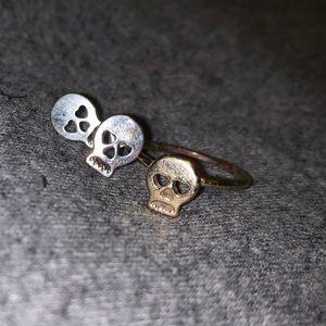 Skull ring and earrings